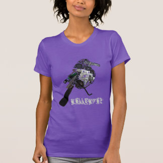 """""""Collector"""" Magpie Found-Object Sculpture T-Shirt"""