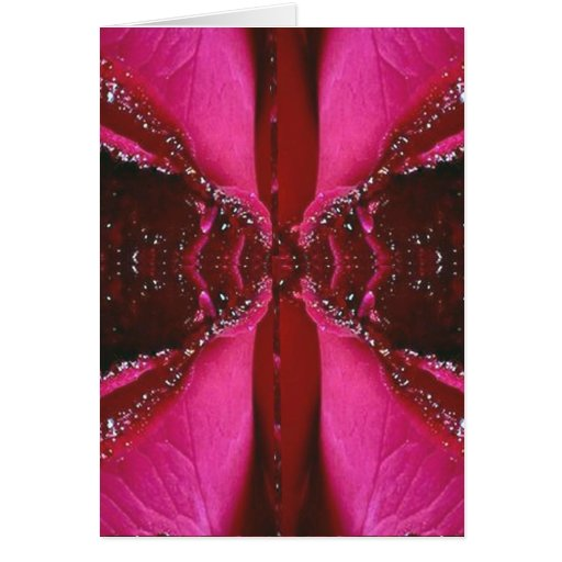 Collectors Edition - Sparkle Red n Pink Rose Card