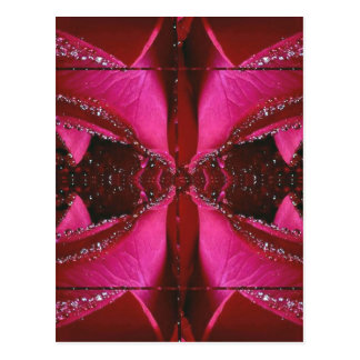 Collectors Edition - Sparkle Red n Pink Rose Postcard