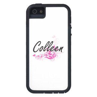 Colleen Artistic Name Design with Flowers iPhone 5 Case