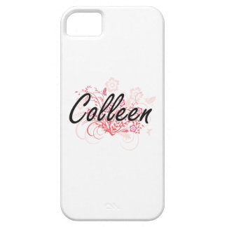 Colleen Artistic Name Design with Flowers iPhone 5 Cover