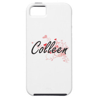 Colleen Artistic Name Design with Hearts iPhone 5 Case