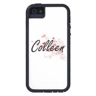 Colleen Artistic Name Design with Hearts iPhone 5 Cases