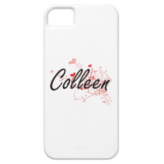 Colleen Artistic Name Design with Hearts iPhone 5 Covers