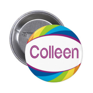 Colleen in Rainbow Button