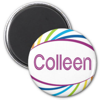 Colleen in rainbow happy frame magnet