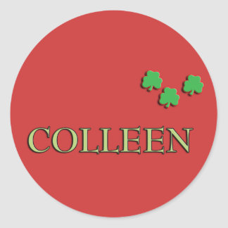 Colleen Irish Classic Round Sticker