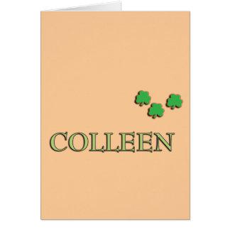 Colleen Irish Greeting Card