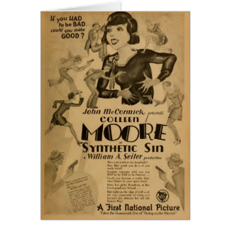 Colleen Moore 'Synthetic Sin' movie promo 1929 Card