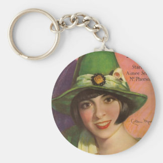 Colleen Moore vintage magazine cover Keychain