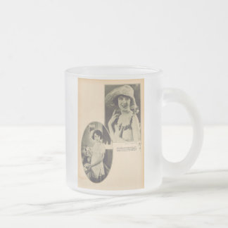 Colleen Moore vintage portrait 1922 Frosted Glass Coffee Mug