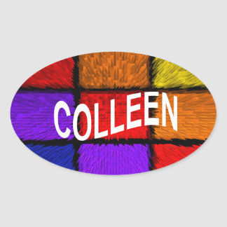 COLLEEN OVAL STICKER