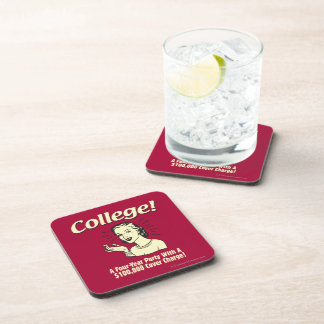 College: 4 Year Party 100,000 Cover Beverage Coaster