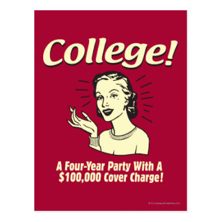 College: 4 Year Party 100,000 Cover Postcard