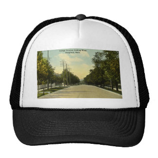 College Avenue Looking West Houghton, Michigan Hat