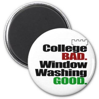 College BAD 2 Inch Round Magnet