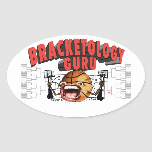 College Basketball Bracketology Guru Oval Sticker