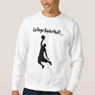 College Basketball Dunker White - Sweat Shirt