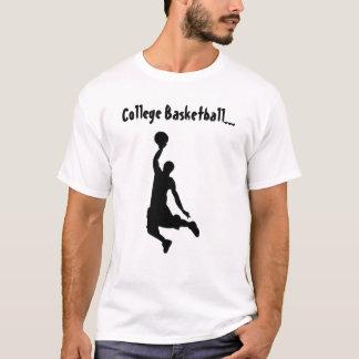 College Basketball Dunker White - T-Shirt