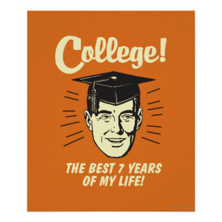 College: Best 7 Years Of My Life Poster