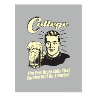 College: Brain Cells Survive Smarter Postcard