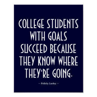 College Classroom Poster in Blue