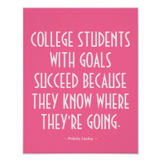 College Classroom Poster in Pink