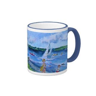 college club beach ringer mug