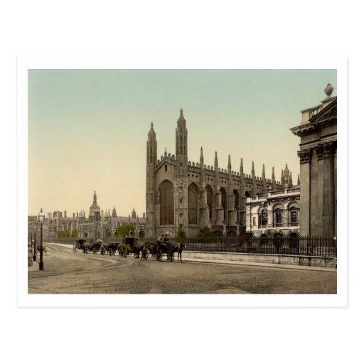 College de rey, Cambridge, Inglaterra Postales