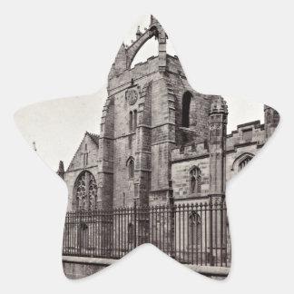 College de rey - universidad de Aberdeen - vintage Pegatina En Forma De Estrella