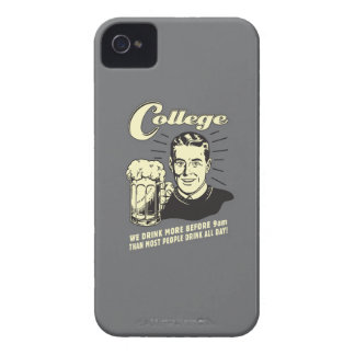 College: Drink More Before 9 AM iPhone 4 Case