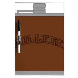 College Dry-Erase Board