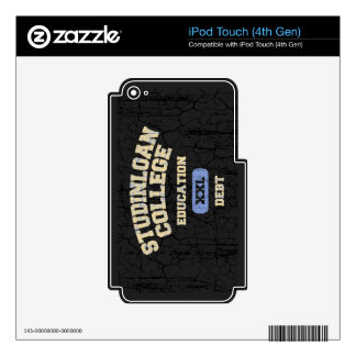 College Education Debt iPod Touch 4G Decals