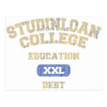College Education Debt Post Cards