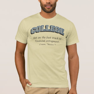 College (fast track) T-shirts, Blue text T-Shirt