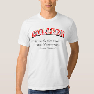 College fast track T-shirts, Red, Grey text T Shirt