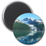 College Fjord I Scenic Alaska Photography 2 Inch Round Magnet
