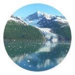 College Fjord I Scenic Alaska Photography Classic Round Sticker