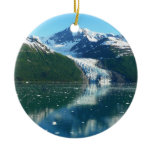 College Fjord I Scenic Alaska Photography Double-Sided Ceramic Round Christmas Ornament