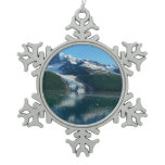 College Fjord II Beautiful Alaska Photography Snowflake Pewter Christmas Ornament