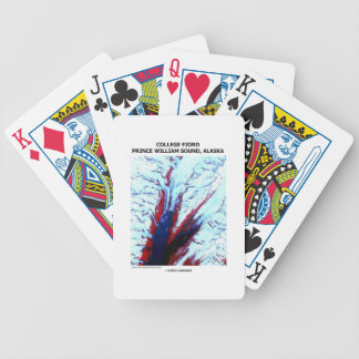 College Fjord Prince William Sound Alaska Bicycle Playing Cards
