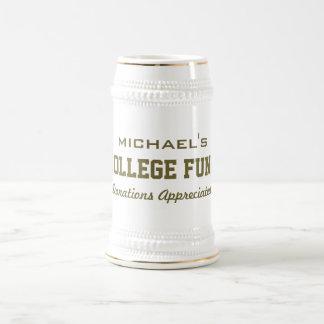 College Fund custom monogram mugs