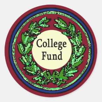 College Fund Tip Jar Stickers