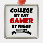 College Gamer Square Metal Christmas Ornament