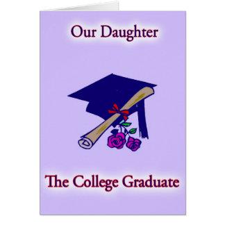 College Graduate Daughter Card