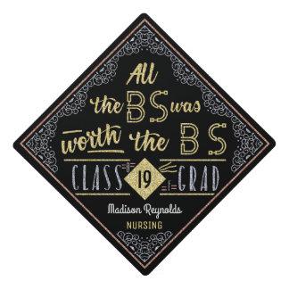 College Graduation Bachelors Degree Funny BS Name Graduation Cap Topper