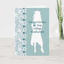 College Graduation Card for Niece with Female Grad