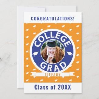 College Graduation Single Photo Announcement