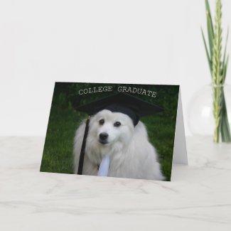 College Gradulate American Eskimo card