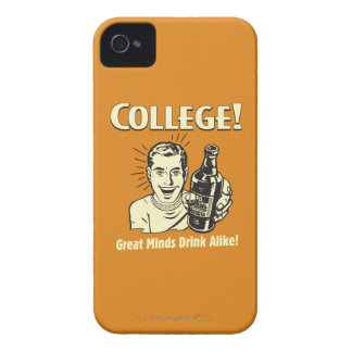 College: Great Minds Drink Alike iPhone 4 Case